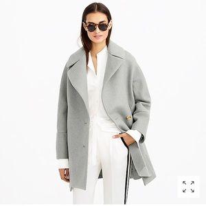• J. Crew • Wool Melton Swing Coat Black 2